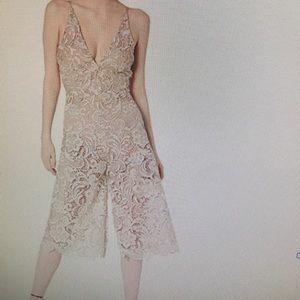 Dress the population lace jumpsuit large